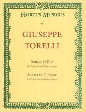 Sonate en sol majeur TORELLI Partition Violoncelle - laflutedepan