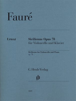 Sicilienne Opus 78 FAURÉ Partition Violoncelle - laflutedepan