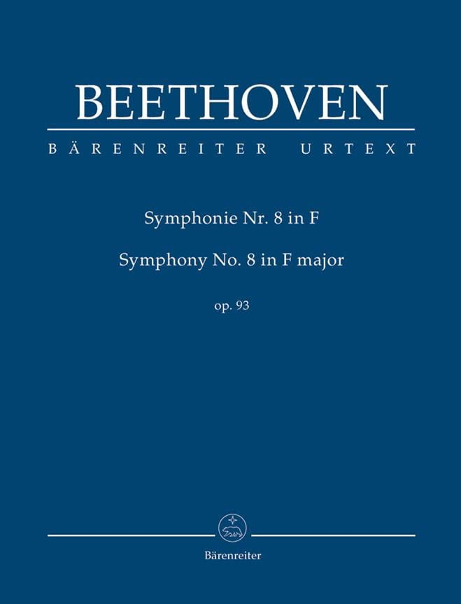 Symphonie n° 8 en Fa Majeur - BEETHOVEN - Partition - laflutedepan.com