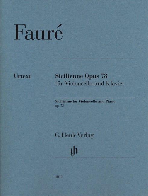 Sicilienne Opus 78 - FAURÉ - Partition - laflutedepan.com