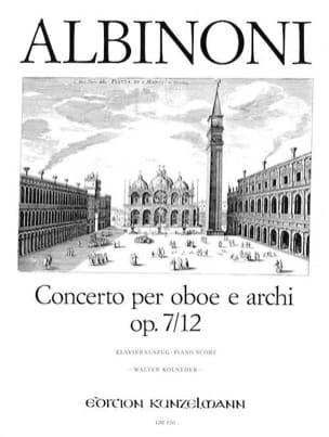 Concerto per oboe op. 7 n° 12 ALBINONI Partition laflutedepan