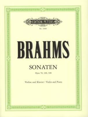 Sonates pour violon et piano BRAHMS Partition Violon - laflutedepan