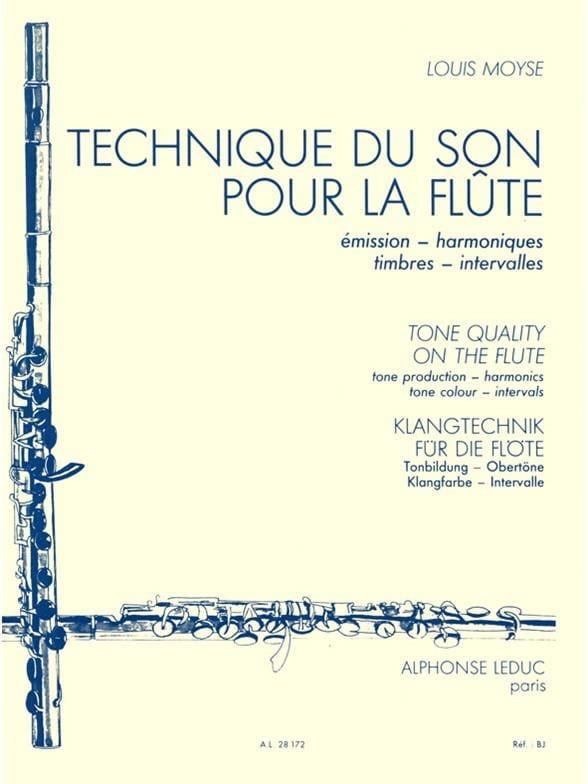 Technique du son pour la flûte - Louis Moyse - laflutedepan.com