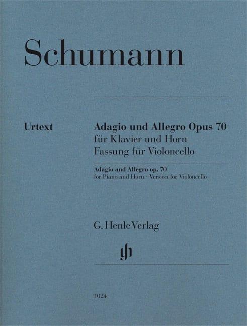 Adagio et Allegro op. 70, version pour violoncelle et piano - laflutedepan.com