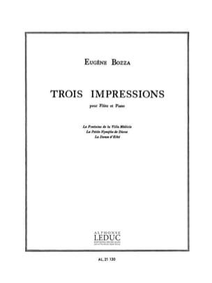 3 Impressions Eugène Bozza Partition Flûte traversière - laflutedepan