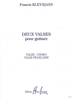 2 Valses pour guitare op. 64 - Francis Kleynjans - laflutedepan.com