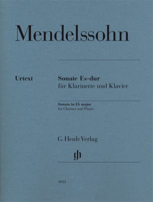 Sonate pour clarinette en Mi bémol majeur MENDELSSOHN laflutedepan