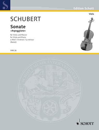 Sonate Arpeggione a-Moll D. 821 - SCHUBERT - laflutedepan.com