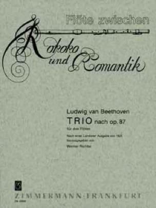 Trio nach op. 87 - 3 Flöten - BEETHOVEN - Partition - laflutedepan.com