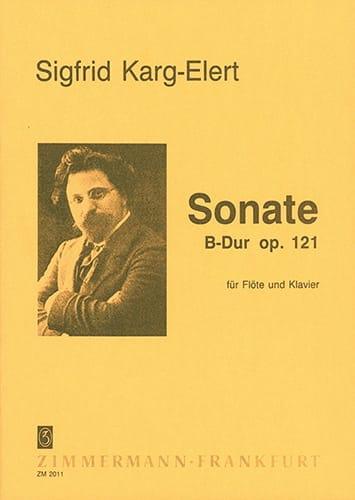 Sonate en Sib Majeur Op. 121 - Sigfrid Karg-Elert - laflutedepan.com