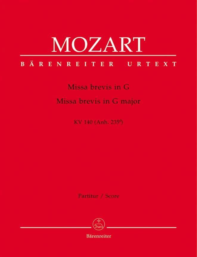 Missa brevis G-Dur KV 140 - Partitur - MOZART - laflutedepan.com