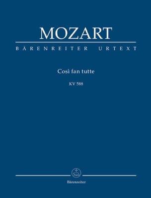 Cosi Fan Tutte - Conducteur MOZART Partition laflutedepan