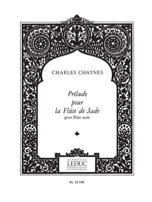 Prélude pour la Flûte de Jade Charles Chaynes Partition laflutedepan