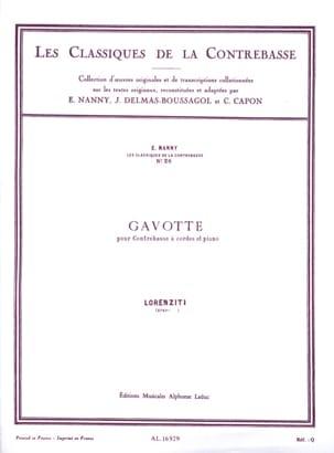 Gavotte Lorenziti Partition Contrebasse - laflutedepan