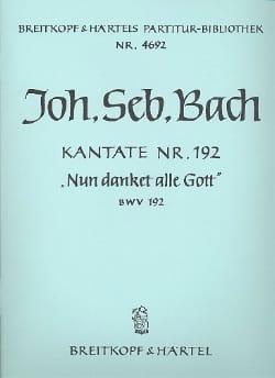 Kantate 192 Nun danket alle Gott - Conducteur - laflutedepan.com