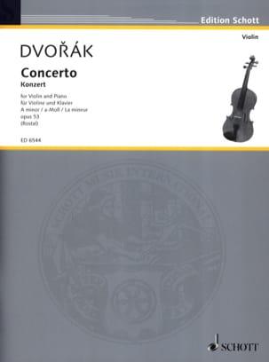 Violin-Konzert A-Moll op. 53 DVORAK Partition Violon - laflutedepan