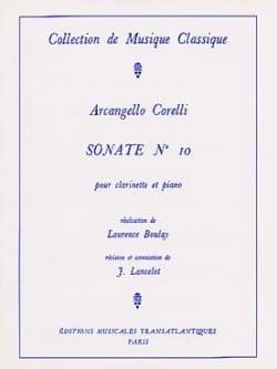 Sonate pour Clarinette n° 10 CORELLI Partition laflutedepan