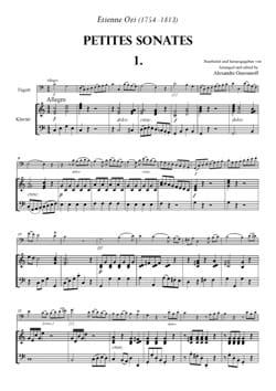 6 Petites Sonates à 2 Bassons Volume 1 Etienne Ozi laflutedepan