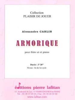 Armorique Alexandre Carlin Partition Flûte traversière - laflutedepan