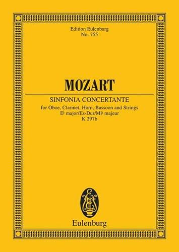 Sinfonia Concertante Es-Dur Kv 297b - Partitur - laflutedepan.com