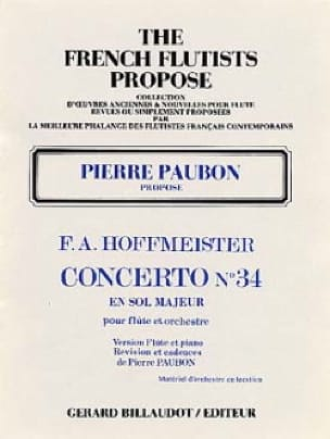 Concerto n° 34 en sol majeur -Flûte piano - laflutedepan.com