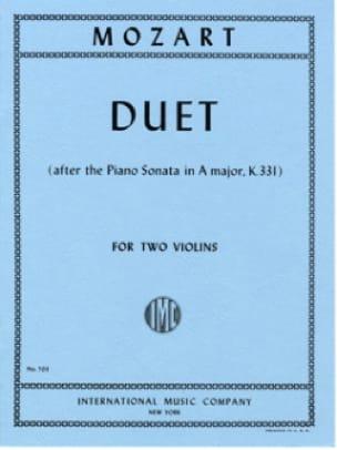 Duet - MOZART - Partition - Violon - laflutedepan.com
