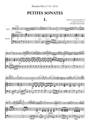 6 Petites Sonates à 2 Bassons Volume 1 - laflutedepan.com