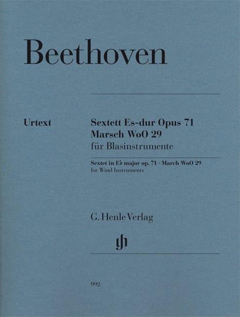 Sextuor op. 71 et Marche WoO 29 - BEETHOVEN - laflutedepan.com