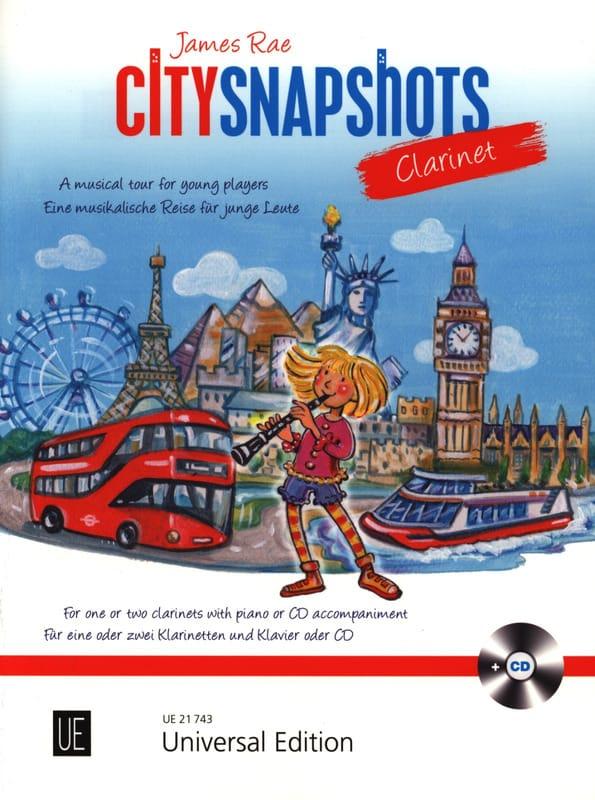 City Snapshots - Clarinette - James Rae - Partition - laflutedepan.com