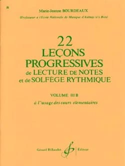 22 Leçons progressives Volume 3B BOURDEAUX Partition laflutedepan