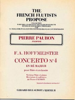 Concerto n° 4 en ré majeur -Flûte piano HOFFMEISTER laflutedepan