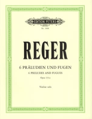 6 Präludien und Fugen op. 131a Max Reger Partition laflutedepan