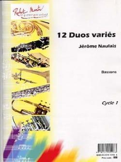 12 Duos Variés Jérôme Naulais Partition Basson - laflutedepan