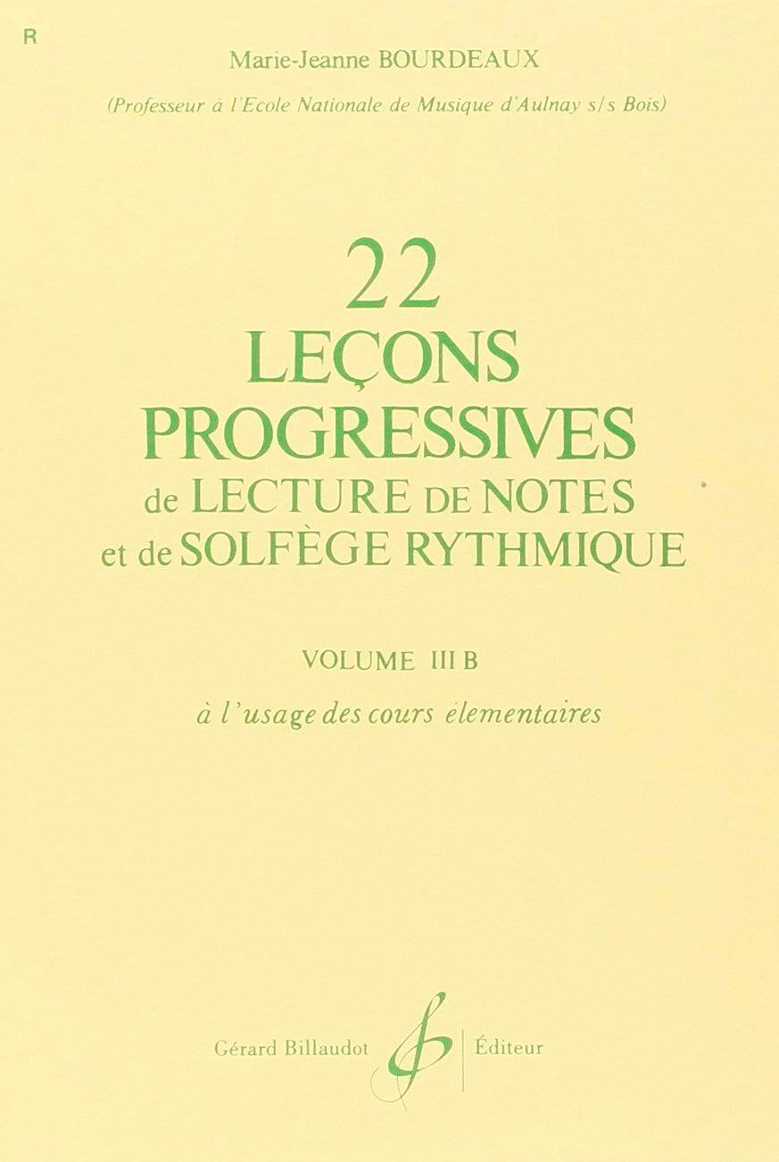 22 Leçons progressives Volume 3B - BOURDEAUX - laflutedepan.com
