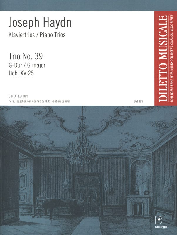 Klaviertrio Nr. 39 G-Dur Hob. 15 : 25 - HAYDN - laflutedepan.com