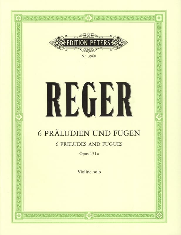 6 Präludien und Fugen op. 131a - Max Reger - laflutedepan.com