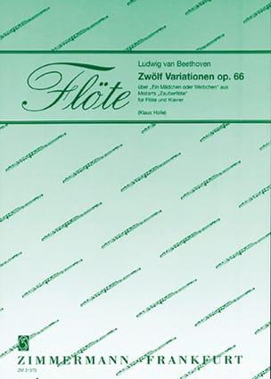 12 Variationen, op. 66 - Flöte Klavier BEETHOVEN laflutedepan