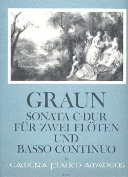 Sonata C-Dur -2 Flöten Bc - Carl Heinrich Graun - laflutedepan.com