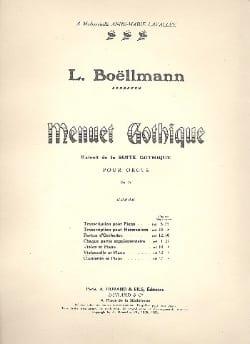 Menuet gothique Léon Boëllmann Partition Violoncelle - laflutedepan