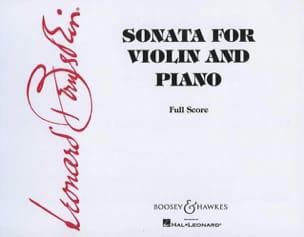 Sonate pour violon et piano BERNSTEIN Partition Violon - laflutedepan