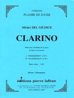 Clarino Michel Delgiudice Partition Clarinette - laflutedepan