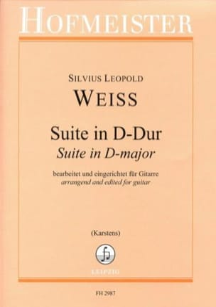 Suite en Ré Majeur Silvius Leopold Weiss Partition laflutedepan