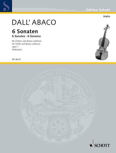 6 Sonates - opus 1 - DALL'ABACO - Partition - laflutedepan.com