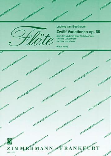 12 Variationen, op. 66 - Flöte Klavier - BEETHOVEN - laflutedepan.com