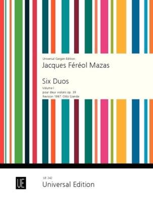 6 Duos op. 39 Volume 1 MAZAS Partition Violon - laflutedepan