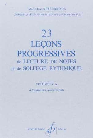 BOURDEAUX - 23 Progressive Lessons Volume 4A - Partition - di-arezzo.co.uk