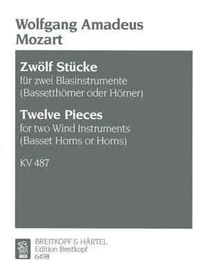 12 Stücke KV 487- 2 Blasinstrumente Bassethorner o. Hörner laflutedepan