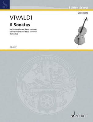 6 Sonatas - Violoncelle VIVALDI Partition Violoncelle - laflutedepan