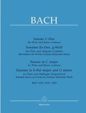 3 Sonates pour Flute et Basse continue piano BACH laflutedepan