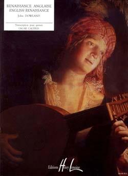 Renaissance Anglaise DOWLAND Partition Guitare - laflutedepan